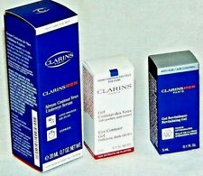 CLARINS MEN UNDEREYE SERUM 20ml, Revitalizing Gel 5ml, Eye Contour 3ml NEW