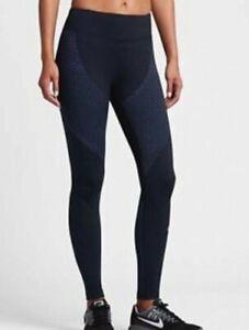 Nike Zonal Strength Training Tights - Size XS - 831128-010 - Black / Blue