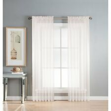 "1 Pcs. Sheer Voile Window Panel curtains DRAPE 63"" ,84"" ,95"" (SCARF) MANY COLORS"
