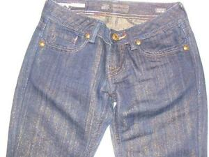 NWOT MEK DENIM VOYAGE COLLECTION JEANS GOLD THREAD SIZE 29 X 28~FREE US SHIPPING