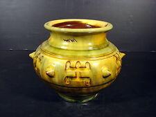 Vase céramique émaillée école américaine XX° signée Adama Sow Dakar Zhuis 2000