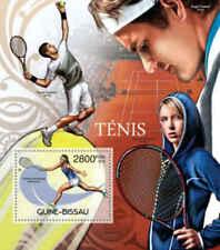 Guinea-Bissau - Tennis Players - Souvenir Stamp Sheet - GB12502b