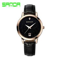 SANDA Fashion Romantic Ladies Waterproof Leather Watch Star Dial Women Watches