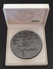 Médaille de mariage signé Drago et offerte par Jacques Medicin, maire de Nice