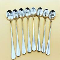 Cereal Killer Spoon Engraved Stainless Steel Spoon with Long Handle