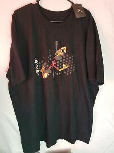 Nike Air Jordan Flight Jumpman Authentic Black Cotton T-Shirt 3XL -NEW-