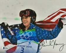 Hannah Kearney USA Gold Olympic Skier signed 8x10 photo autographed 3 Beckett