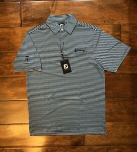 FootJoy Golf Shirt Mens Size Small Striped Polo TPC Summerlin Shriners Open LV