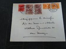 Nederland 460, 462(2x), 495 (2x) op brief Vlaardingen - Den Haag 1948 afz. weg