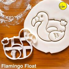 Flamingo Float cookie cutter - nautical donut ring swimming pool party Hawaiian