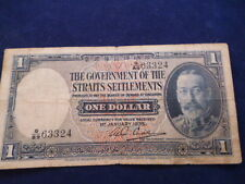Government Of The Straits Settlements 1 Dollar Note 1935 George V, Singapore