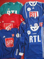 Lot 5 maillot Porté coupe de France SFR + RTL Adidas Match Worn Vintage