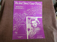 The Last Time I Saw Paris/Hammerstein-Kern/Judy Garland Photo Cover/1940