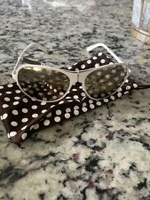 Henri Bendel White Foldable Sydney Aviator Sunglasses Nwt