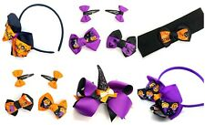 Halloween Hair Accessories Grips Clips Hair Bows Witch Hat Halloween Novelty