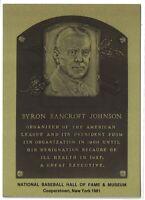 BAN JOHNSON Hall of Fame METALLIC Plaque Card