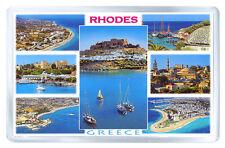 RHODES GREECE MOD2 FRIDGE MAGNET SOUVENIR IMAN NEVERA