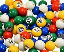 "Bingo Balls EZ READ 7/8"" 5-Color Plastic Bingo Ball Set- With Windows"