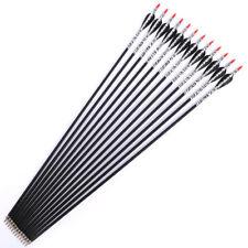 Af Archey 12pcs 31inch fiberglass arrows 500 spine for Outdoor sports Black