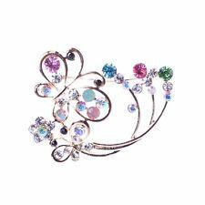 18K Golden Plated Butterfly Brooch Pins Crystal Rhinestone Women Jewelry