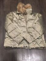 CATO Kaki Removable Faux Fur Collar QUILTED PUFFER JACKET  Women 22/24W
