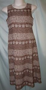 Studio I Multicolor Brown Floral Geometric Sheath Long Dress Set Size 12