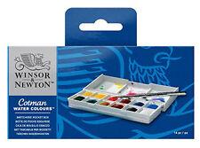 W&N : Cotman : Watercolour : Sketchers Pocket Box Set : 12 Half Pans