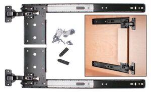 KNAPE&VOGT 8080 Medium Duty Pocket Door Slides System W/Hinge & Plate Pair