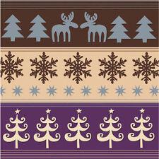 20 X Serviettes de Table Noël 3 Plis Qualité Cerf Flocons Neige Arbre