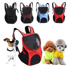 Outdoor Double Shoulder Dog Bag Backpack Pet Travel Dog Carrier Mesh Windows UK