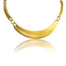 Napier Vintage Gold Collar Necklace Designer Signed Patent Satin Modernist Style