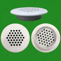 2x White Vivarium Reptile Push Fit Round Air Vents, 48mm, 35mm Hole, Ventilation