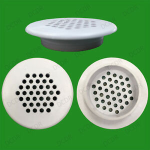 20x Roof Soffit Round Air Vents Eaves 48mm Grille 35mm Hole Push Fit Ventilation