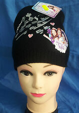 VIOLETTA DISNEY CAPPELLO NERO CON STAMPA E STRASS BLACK HAT WITH RHINESTONES