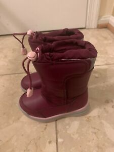 Land's End Snow Flurry Winter Boots Girl's Toddler 8M