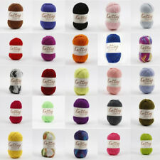 100g Knitting Yarn 8Ply Super Soft Acrylic Wool Multi Colour Craft Polyester