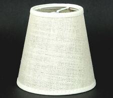 Lampenschirm Zum Aufstecken Aus Leinen  Kronleuchter Tischlampe Klemmschirm E14