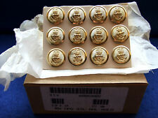 12 X ROYAL NAVY 24MM GOLD NAVAL BUTTONS IDEAL FOR VETERANS JACKETS/BLAZERS, NEW