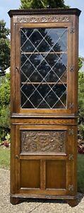 RARE Ethan Allen Oak Sussex Royal Charter Corner Cabinet 16-9907 Made In England