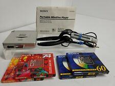 Sony Md Walkman Mz-E33 Minidisc Player w/ Headphones Wired Remote Tested Working