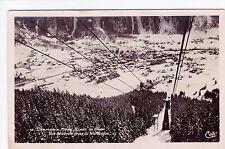 Antique RPPC Chamonix Ski Resort, Mont Blanc, France - Alps - Skiing