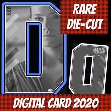 Topps Card Trader Star Wars Rey Jedi Wave 1 Blue Die-cut 2020 Digital Card