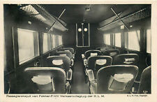 KLM ROYAL DUTCH AIRLINES INTERIOR FOKKER - F- 11 OLD REAL PHOTO POSTCARD VIEW