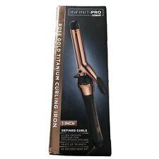 """Conair InfinityPro Rose Gold Titanium Curling Iron 1"""" Define Curls"""