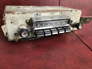 55 Pontiac AM FM Converted Radio with AUX Input, fits Chieftain and Star Chief