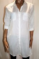 TARGET Brand White Long Sleeve Collared Tunic Shirt Top Size 12 BNWT #TQ18