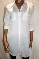 TARGET Brand White Long Sleeve Collared Tunic Shirt Top Size 12 BNWT #TQ18