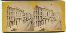 Early Philadelphia PA Stereoview Card First National Bank & Stein & Jones & stre