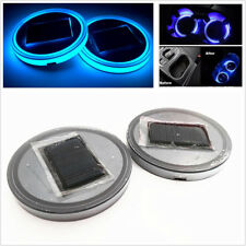 Pair 7 Colorful Car LED Solar Cup Bottom Pad Pressing& Vibration Can Be Luminous
