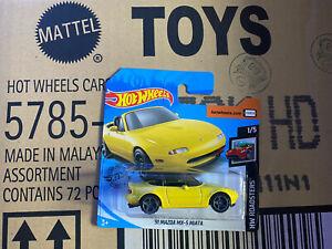 Hot Wheels '91 MAZDA MX-5 MIATA HW Roadsters 1/4 1/64 2020 RARE Short Card